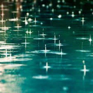 as raindrops