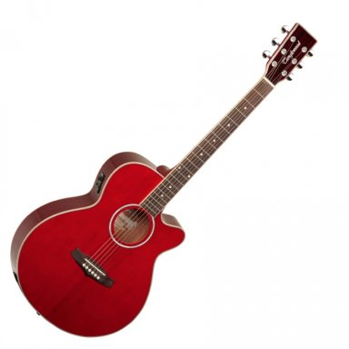 Red Wooden Guitar