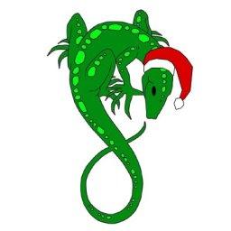Gecko Santa
