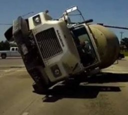 Drunk Clowns Driving a Cement Truck