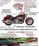 TRI- COUNTY TOY DRIVE/POKER RUN/CAR SHOW