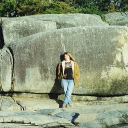 Susan at Sechelt Beach, w: Moby Dick, 1995.jpeg