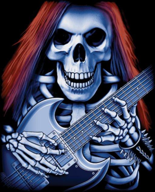 фото рок с гитарой скелет