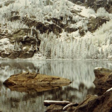 Reflections on Pinewoods Lake