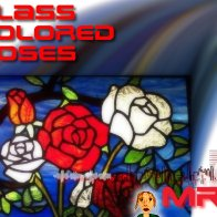 Glass Colored Roses