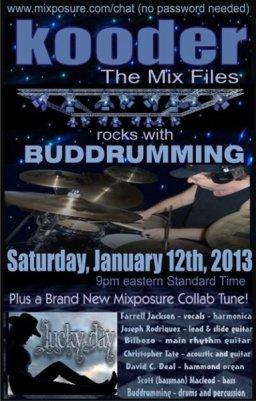 Kooder Mix Files rockin with Buddrumming