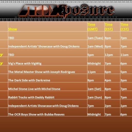 DJ Schedule12212013